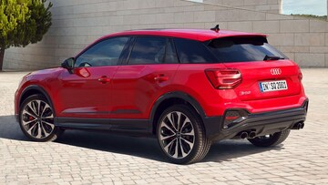 Rear-side view of the Audi SQ2.